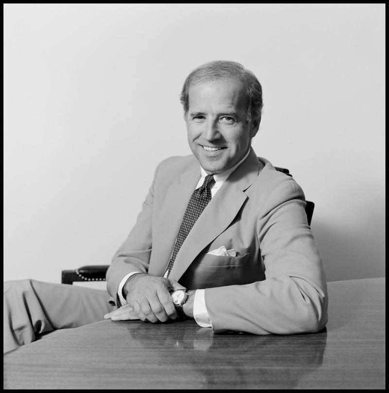 Senator Joe Biden poses for a portrait in June 1991 in Washington, D.C. (Photo by Janet Fries/Getty Images)