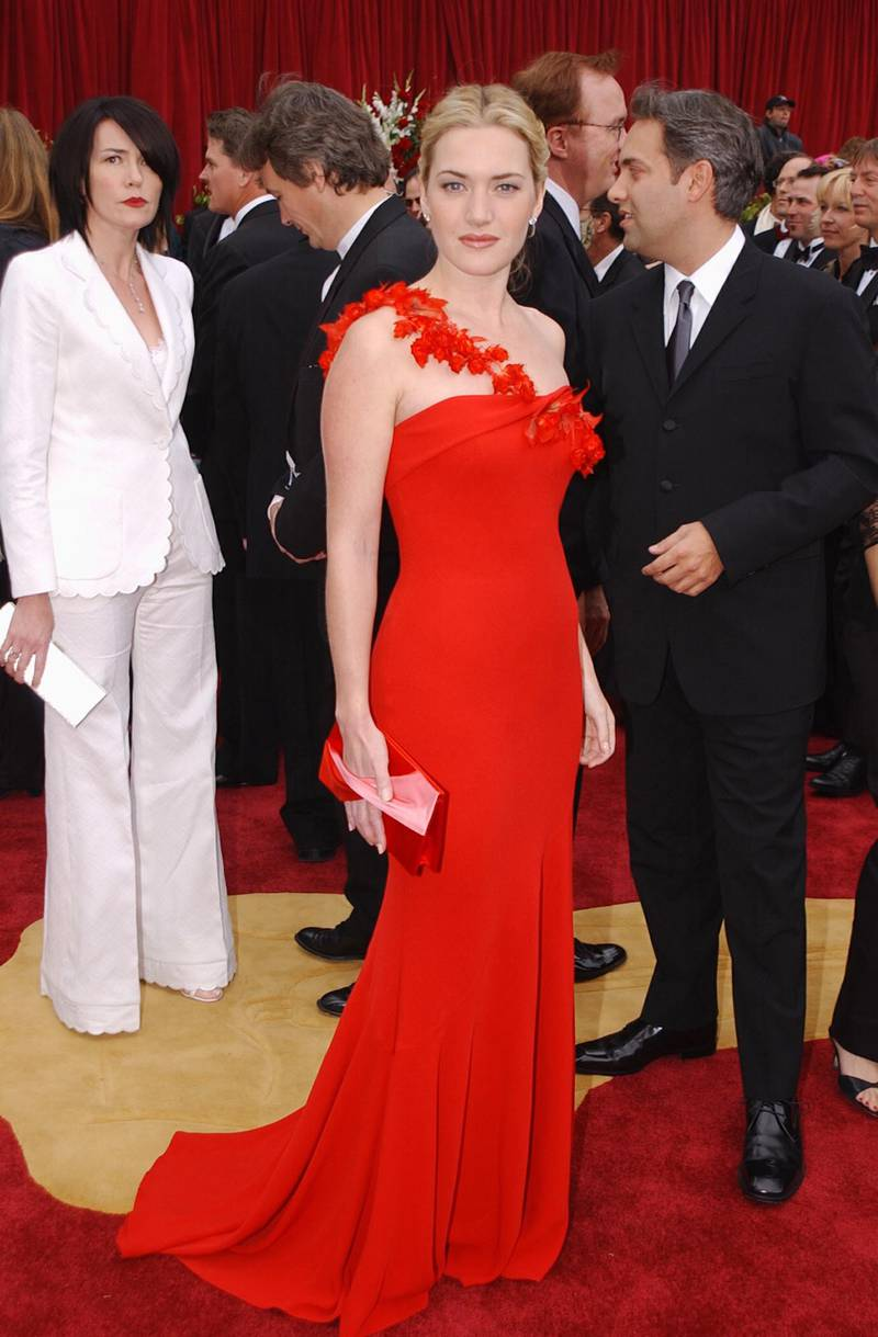 Kate Winslet during The 74th Annual Academy Awards - Arrivals at Kodak Theater in Hollywood, California, United States. (Photo by Jeff Kravitz/FilmMagic, Inc)