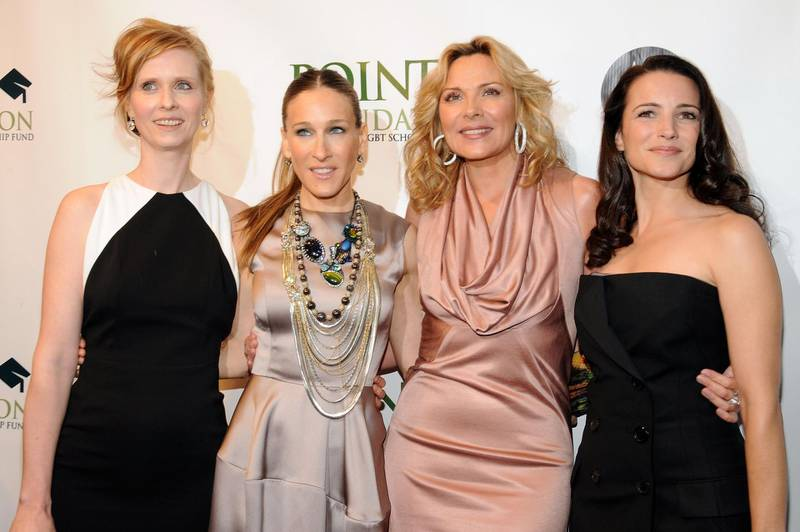 NEW YORK - APRIL 07:  Actors Cynthia Nixon, Sarah Jessica Parker, Kim Cattrall and Kristin Davis arrive at the Point Foundation hosts Point Honors... The Arts at Capitale on April 7, 2009 in New York City.  (Photo by Bryan Bedder/Getty Images)