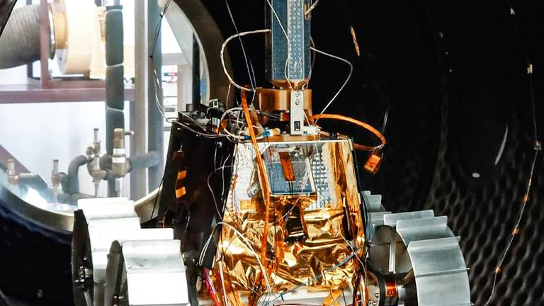 An image that illustrates this article First look: incredible images of the final prototype of the UAE's Rashid lunar rover