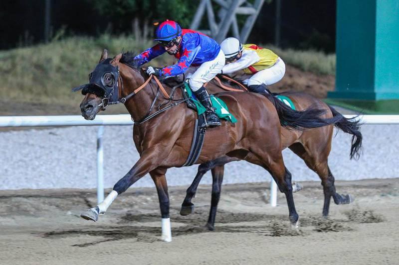 DUBAI CANAL (GB) ridden by Tadhg O'Shea wins the 10F Al Saad handicap, race 6, at Al Ain, UAE