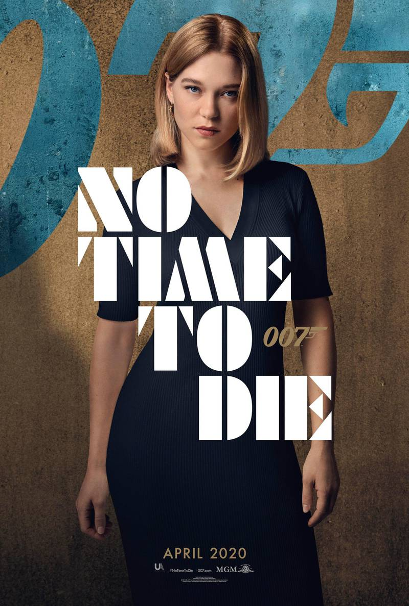 No Time To Die poster featuring Lea Seydoux. Courtesy MGM