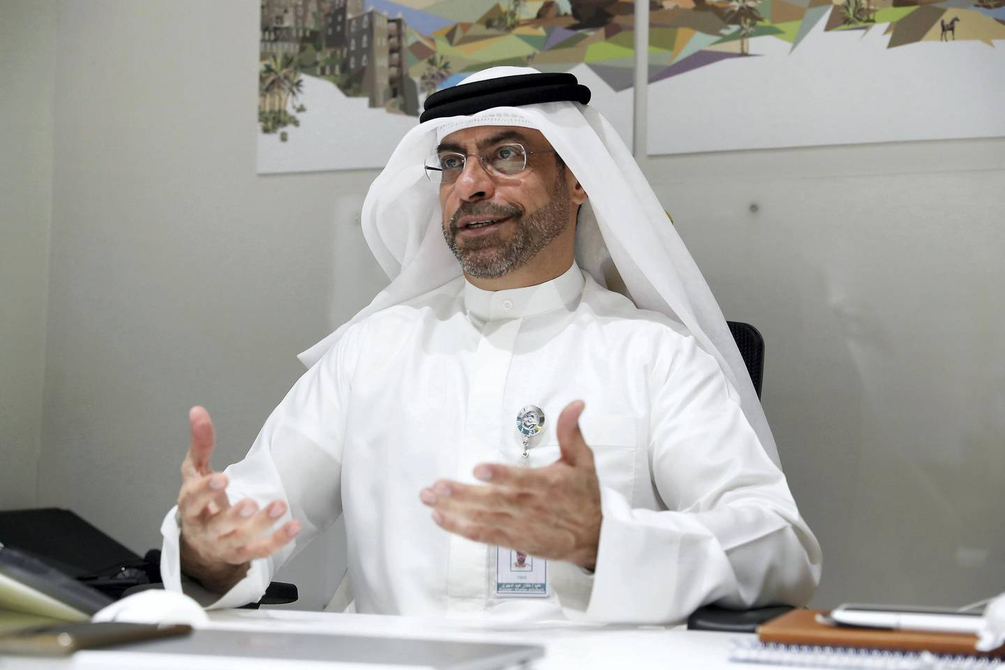 Col Khalfan Al Jallaf, head of Environmental Crimes Division at Dubai police during the interview at his office in Dubai Police HQ on June 29,2021 in Dubai. Pawan Singh/The National. Story by Salam