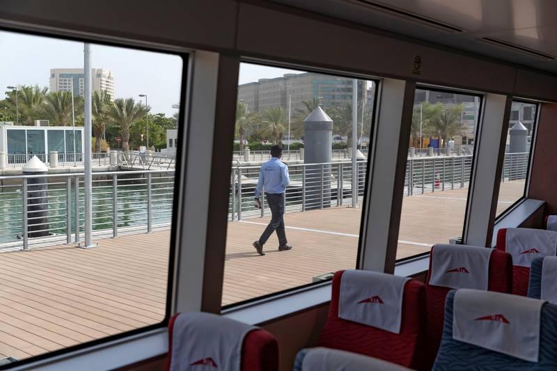 Dubai & Sharjah, United Arab Emirates - July 28, 2019: New Dubai-Sharjah commuter ferry is launched. Aquarium Marine Station in Sharjah. Sunday the 28th of July 2019. Chris Whiteoak / The National