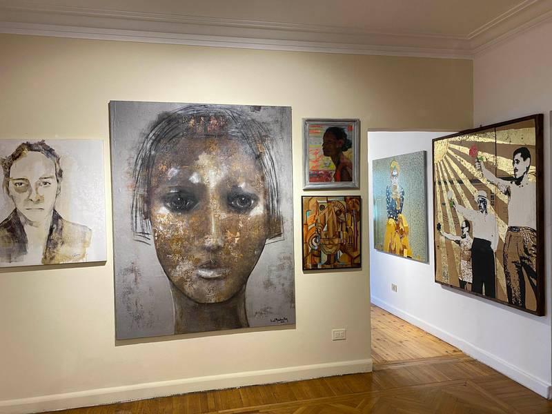 Artwork on display at the ArtTalks gallery. Nada El Sawy / The National