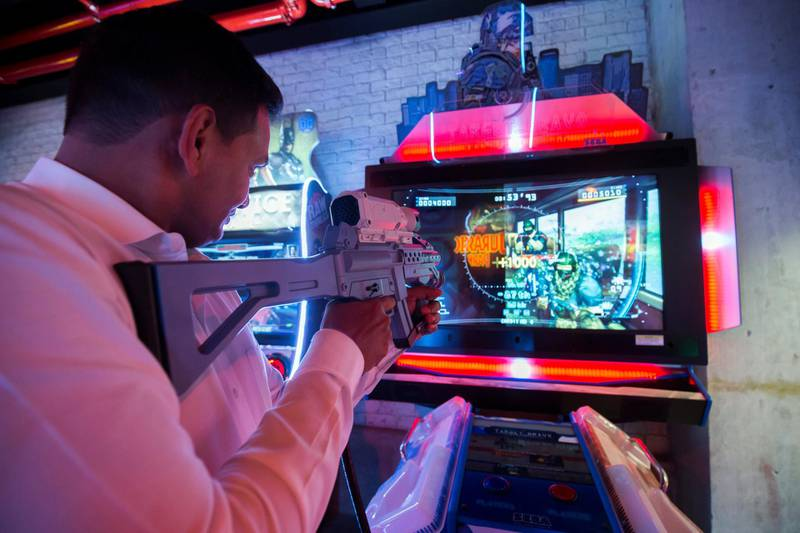 DUBAI, UNITED ARAB EMIRATES -The arcade at the  preview of new entertainment complex, Warehouse at Atlantis The Palm Dubai.  Leslie Pableo for The National for Katy Gillett's story