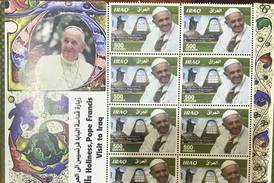 Iraq releases commemorative stamps after historic Pope Francis visit