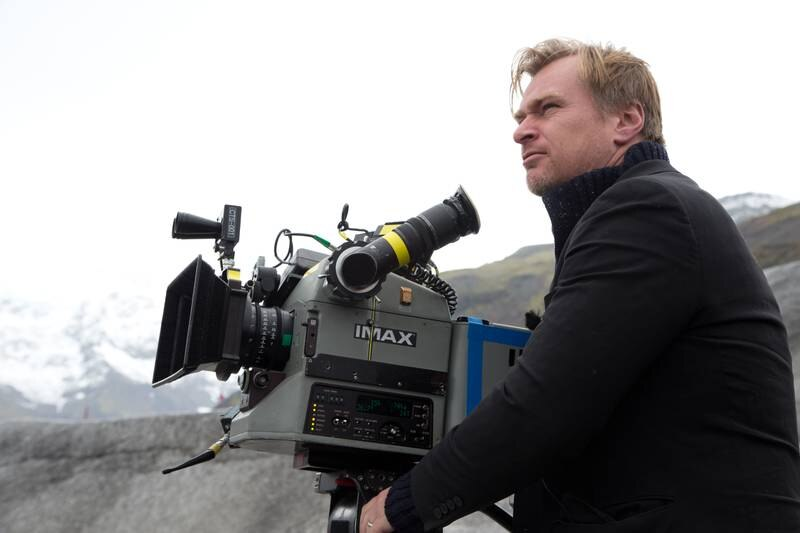 A handout photo of director, co-screenwriter and producer Christopher Nolan on the set of INTERSTELLAR from Paramount Pictures and Warner Brothers Entertainment. (Melinda Sue Gordon / Warner Bros.)
