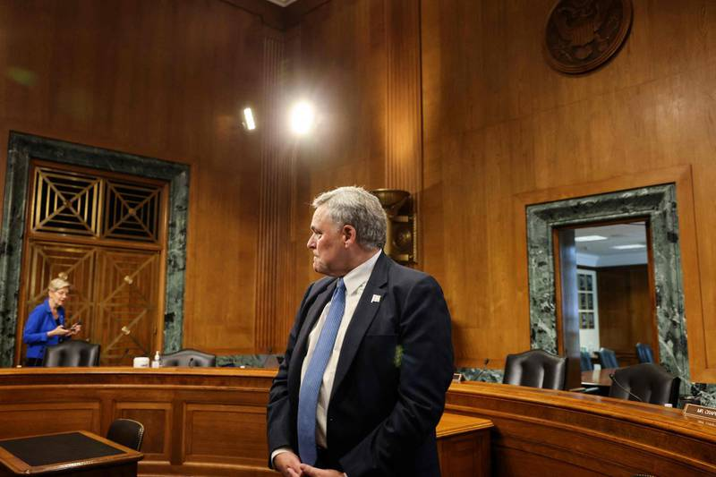Internal Revenue Service (IRS) Commissioner Charles Rettig arrives to testify at a Senate Finance Committee hearing on the IRS budget request on Capitol Hill in Washington,DC on June 8, 2021.  / AFP / POOL / EVELYN HOCKSTEIN