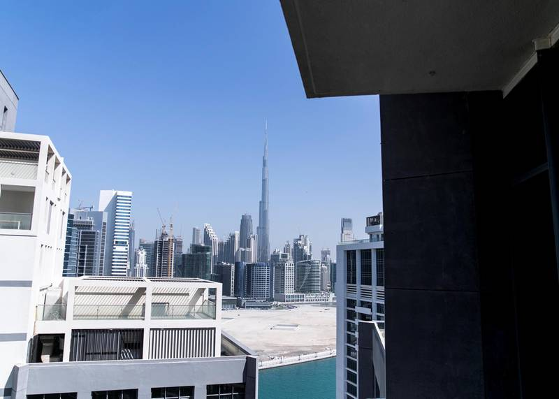 DUBAI, UNITED ARAB EMIRATES. 29 OCTOBER 2019. Dubai skiline seen from Deyaar properties on Business Bay.(Photo: Reem Mohammed/The National)Reporter:Section: