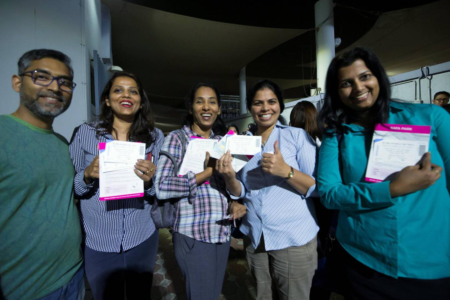 DUBAI, UNITED ARAB EMIRATES -People got their tickets at St. Mary's Catholic Church, Oud Mehta.  Leslie Pableo for The National for Patrick Ryan's story