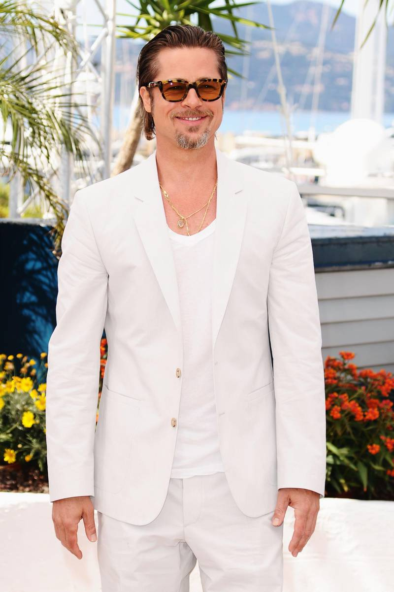"""CANNES, FRANCE - MAY 16:  Actor Brad Pitt attends """"The Tree Of Life"""" photocall during the 64th Annual Cannes Film Festival at Palais des Festivals on May 16, 2011 in Cannes, France.  (Photo by Ian Gavan/Getty Images)"""