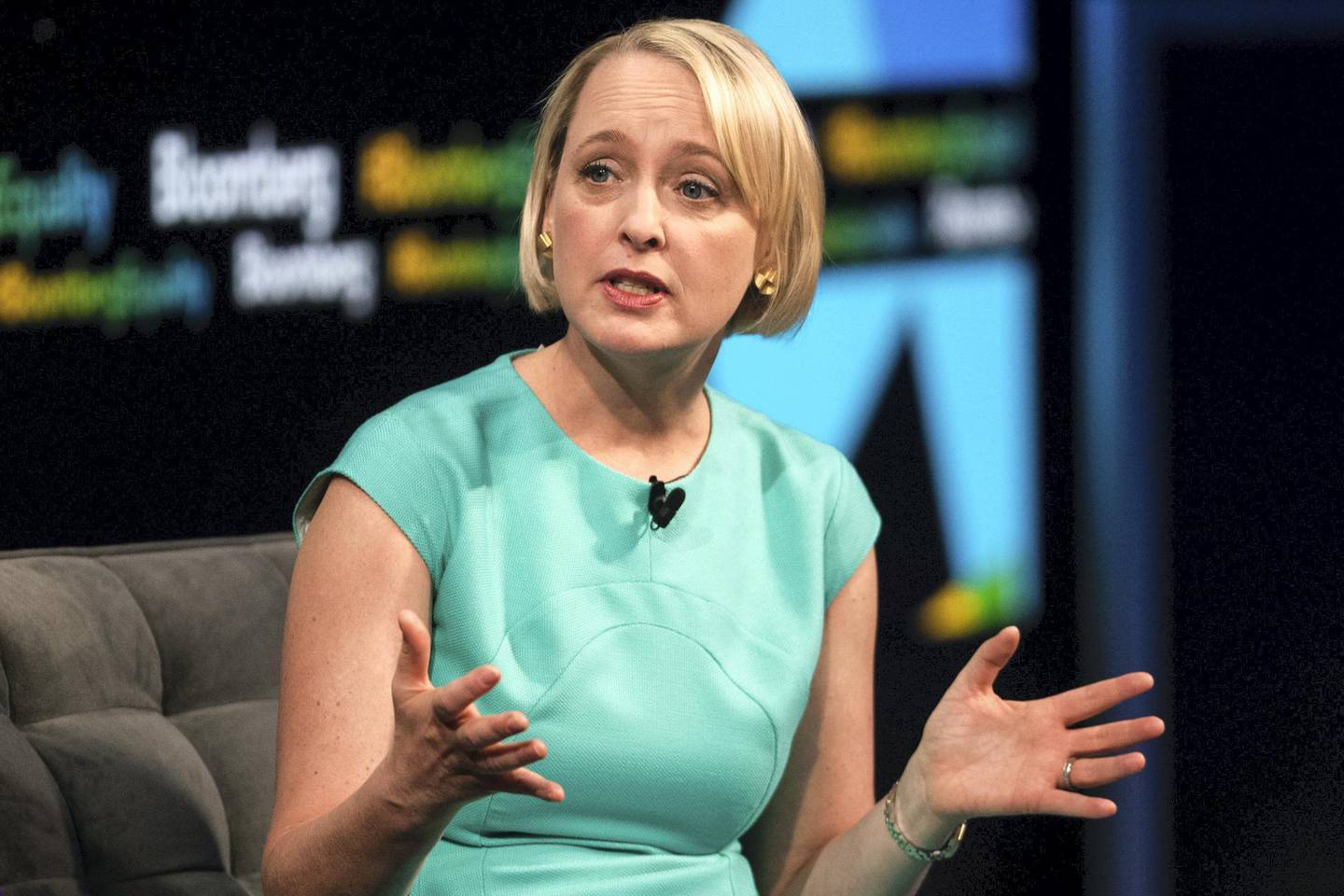 Julie Sweet, chief executive officer of North America for Accenture PLC, speaks during the Bloomberg Business of Equality conference in New York, U.S., on Tuesday, May 8, 2018. The conference brings together business, academic and political leaders as well as nonprofits and activists to discuss the future of equality, how we get there and what is at stake for the economy and society at-large. Photographer: Mark Kauzlarich/Bloomberg via Getty Images
