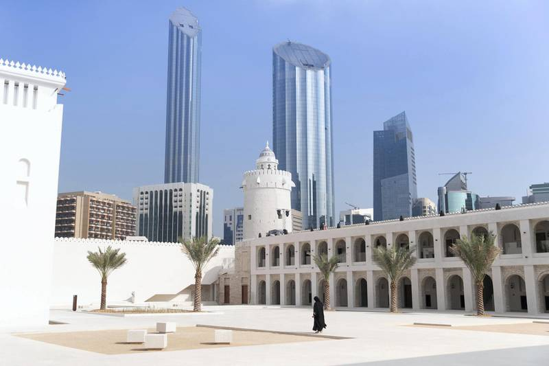 ABU DHABI, UNITED ARAB EMIRATES - DECEMBER 4, 2018. Qasr Al Hosn is the ancestral home of the Al Nahyan and the oldest building on Abu Dhabi Island.Qasr Al Hosn has witnessed the evolution of Abu Dhabi Island from a small coastal community to a world city. In that time, Qasr Al Hosn has been a fortified stronghold, a seat of rule, a royal home and a gathering place for the community.(Photo by Reem Mohammed/The National)Reporter: Section:  AC