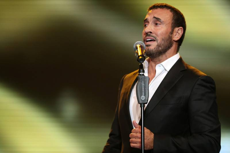 Dubai , United Arab Emirates, July 24, 2015:    Kadim Al Sahir performs during the Summer Surprises concert series at Dubai World Trade Centre in Dubai  on July 24, 2015. Christopher Pike / The NationalReporter: Saeed SaeedSection: Arts & Life *** Local Caption ***  CP0724-AL-Summer Concerts Day 207.JPG