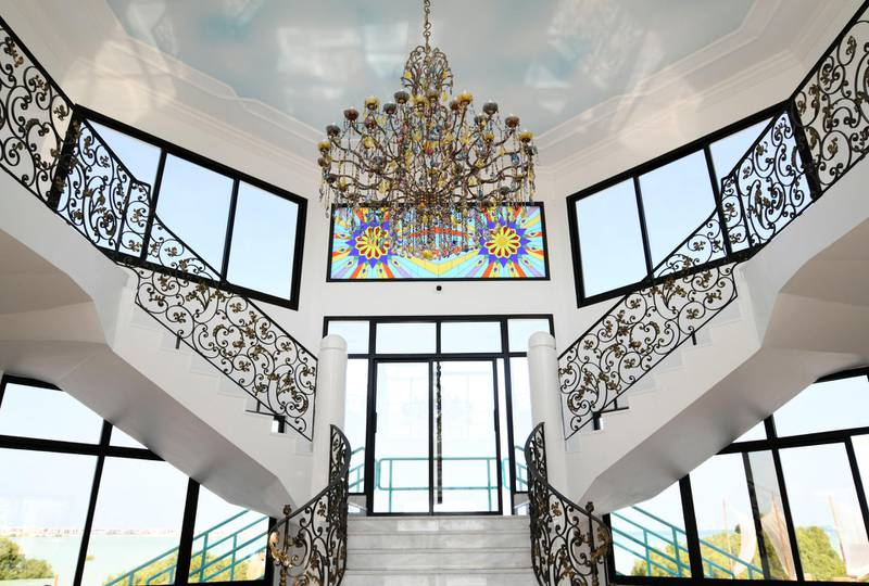 Abu Dhabi, United Arab Emirates - Front reception at the Pure Eco Retreat nestled in the heart of mangroves, on Jubail Island. Khushnum Bhandari for The National
