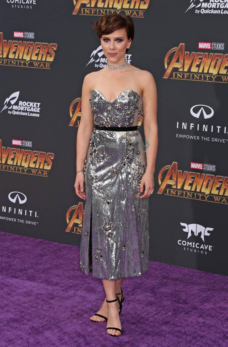 epa06954068 (FILE) - US actress Scarlett Johansson poses at the world premiere of Marvel Studios' Avengers: Infinity War at the El Capitan and TCL Chinese Theaters, in Hollywood, Los Angeles, California, USA, 23 April 2018 (reissued 17 August 2018). According to media reports, Scarlett Johansson is the highest-paid actress in 2018, citing Forbes? annual list of Hollywood?s highest-paid female stars.  EPA-EFE/Jimmy Morrison