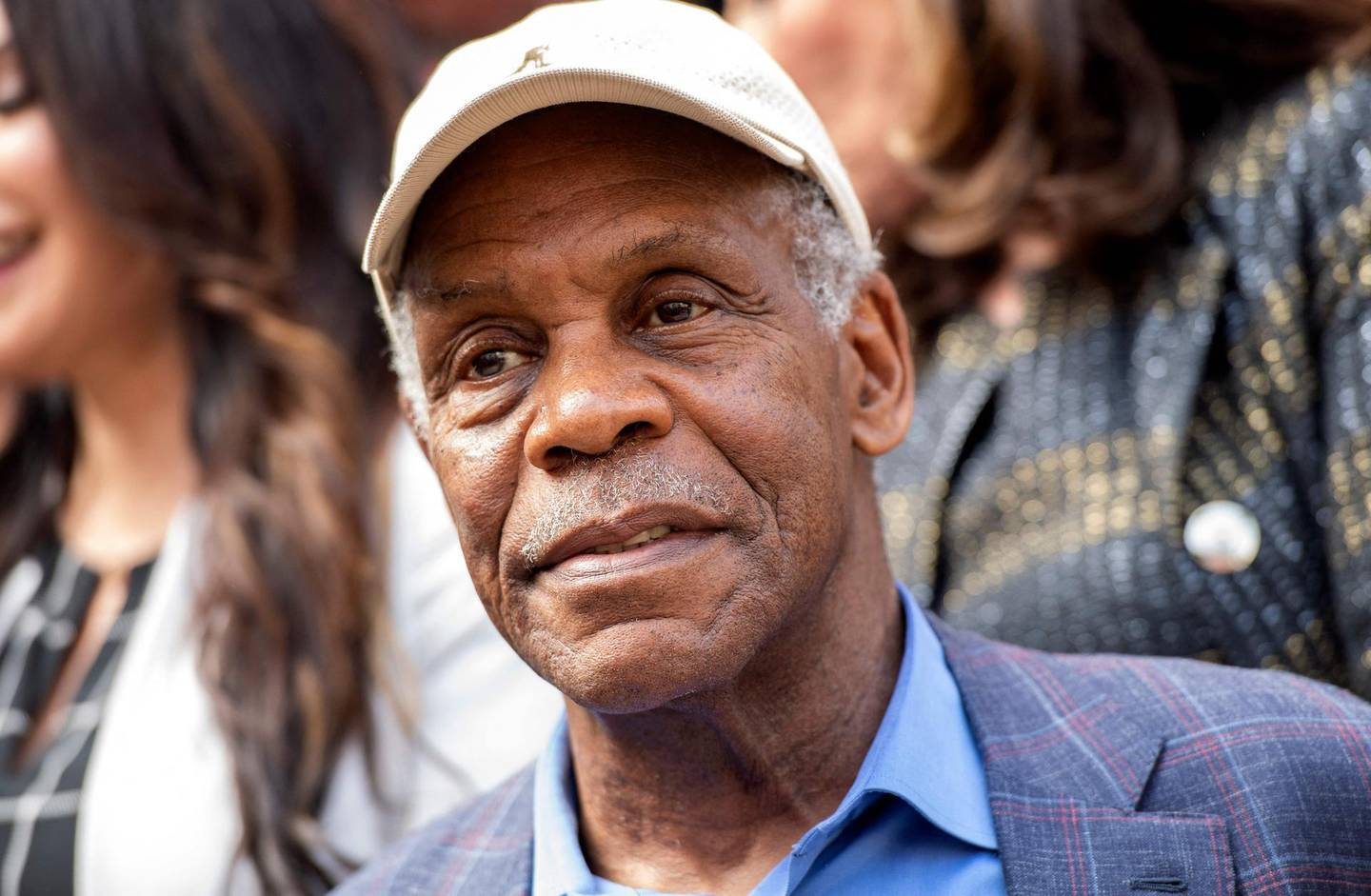 """(FILES) In this file photo taken on May 19, 2021 actor Danny Glover attends the """"Save The Performing Arts Act of 2021"""" press conference in Los Angeles, California. Actors Samuel L Jackson and Danny Glover, Norwegian actress Liv Ullmann and actress-director Elaine May will receive honorary Oscars ahead of the main 2022 gala, the Academy of Motion Picture Arts and Sciences announced Thursday. Jackson, May and Ullmann will be given honorary stauettes, while Glover will receive the Jean Hersholt Humanitarian Award at the Governors Awards on January 15, the Academy said in a statement. / AFP / VALERIE MACON"""