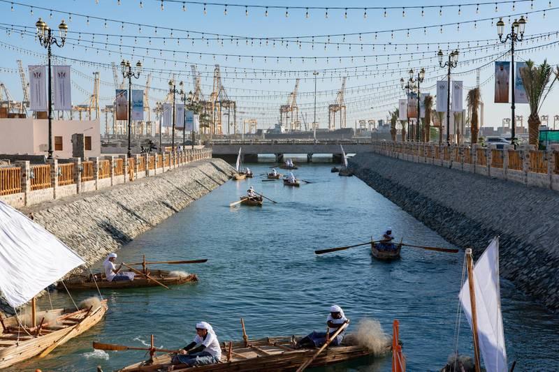 The heritage area in Khorfakkan on Sunday morning. WAM
