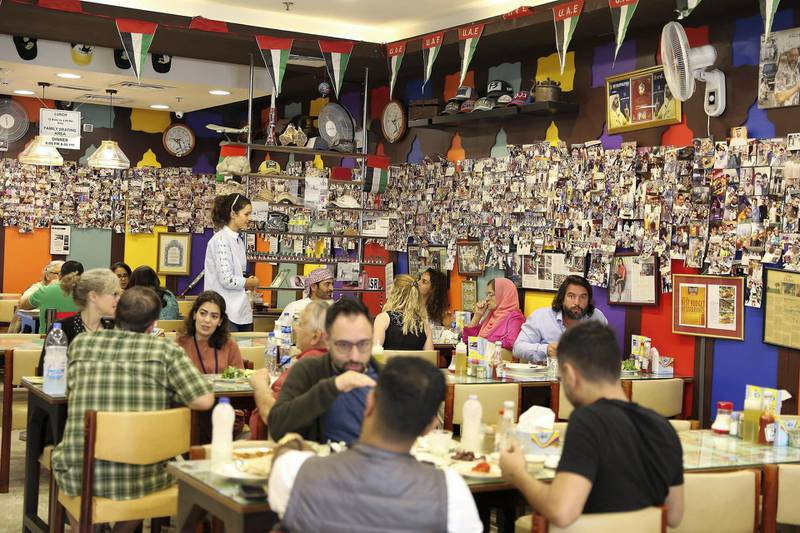DUBAI , UNITED ARAB EMIRATES , January 9 ��� 2019 :- Inside view of the Ustad Special Kabab Iranian restaurant in Bur Dubai in Dubai. ( Pawan Singh / The National ) For News. Story by Nick Webster