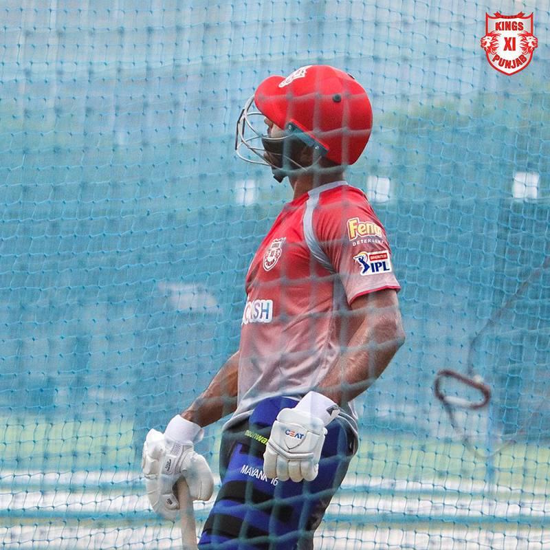 Mayank Agarwal began training at the ICC Academy in Dubai. Courtesy Kings XI Punjab twitter / @lionsdenkxip