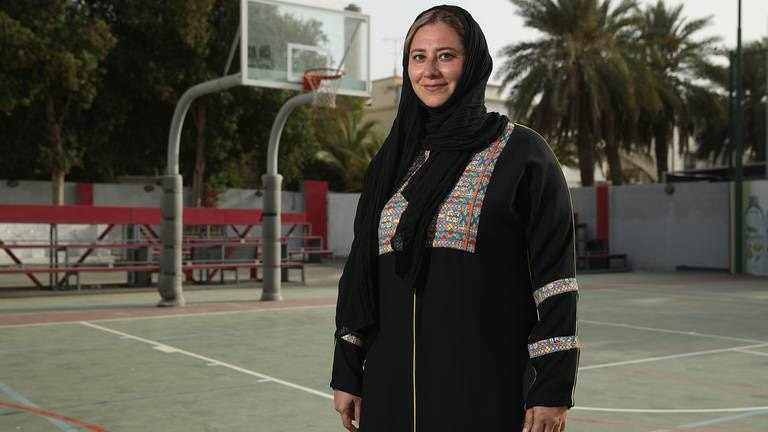 An image that illustrates this article Saudi sports pioneer Lina Al Maeena inspiring girls to live their dreams