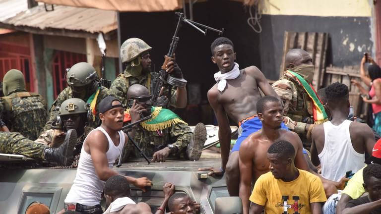 An image that illustrates this article Guinea Army politics unrest - in pictures