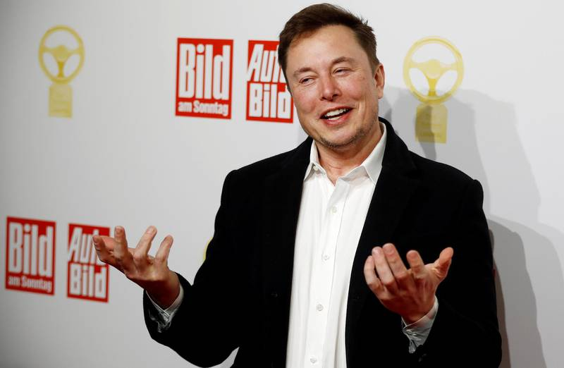 """FILE PHOTO: SpaceX owner and Tesla CEO Elon Musk arrives on the red carpet for the automobile awards """"Das Goldene Lenkrad"""" (The golden steering wheel) given by a German newspaper in Berlin, Germany, November 12, 2019. REUTERS/Hannibal Hanschke/File Photo"""