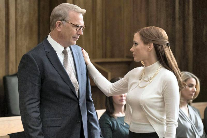 No Merchandising. Editorial Use Only. No Book Cover UsageMandatory Credit: Photo by Moviestore/REX/Shutterstock (9227603o)Kevin Costner, Jessica ChastainMolly's Game - 2017