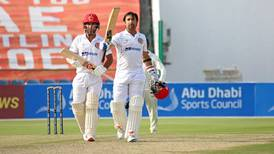 Asghar Afghan hits maiden Test century as Afghanistan make strong start against Zimbabwe in Abu Dhabi