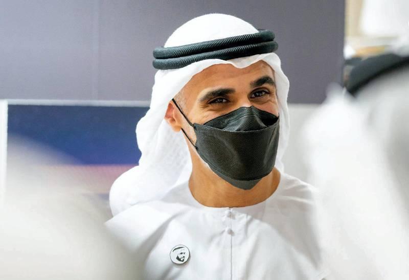 Khaled bin Mohamed bin Zayed inaugurates 30th edition of Abu Dhabi International Book fair at ADNEC. courtesy: admedia office twitter