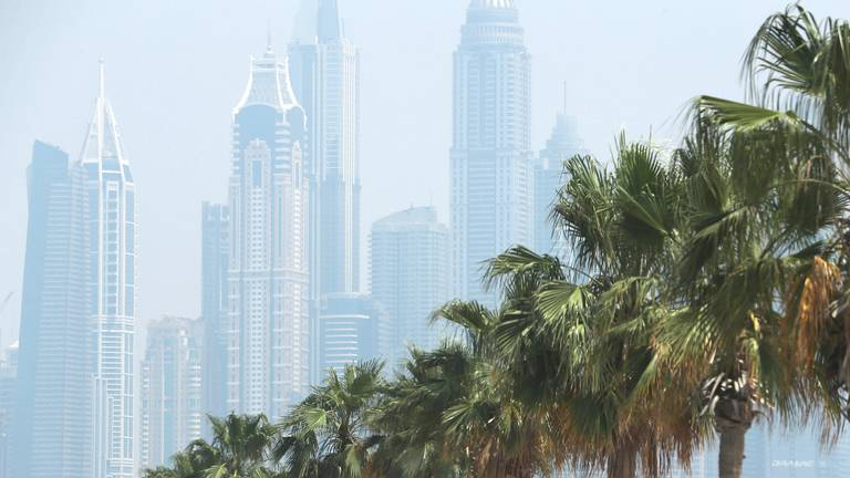An image that illustrates this article UAE weather: hazy and cloudy with a chance of rain