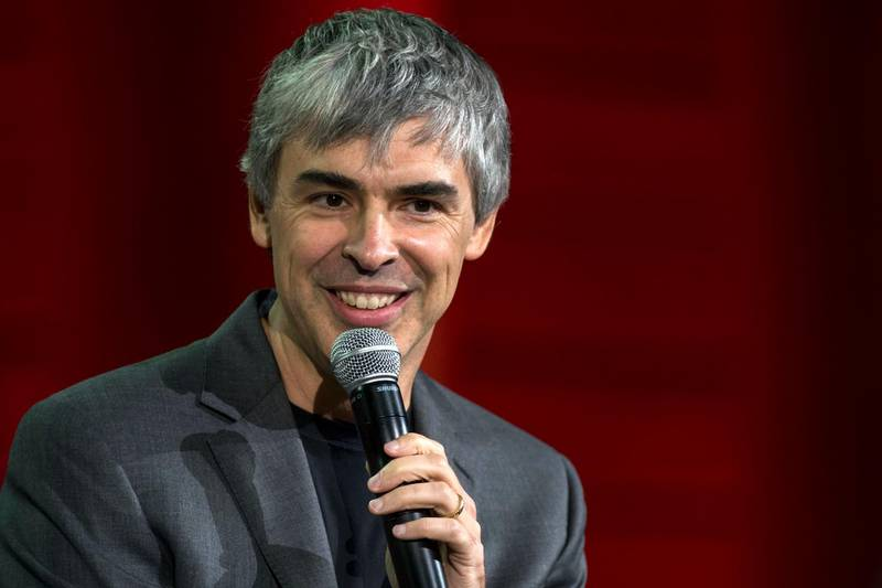 Larry Page, co-founder of Google Inc. and chief executive officer of Alphabet Inc., speaks during the 2015 Fortune Global Forum in San Francisco, California, U.S., on Monday, Nov. 2, 2015. The forum gathers Global 500 CEO's and innovators, builders, and technologists from some of the most dynamic, emerging companies all over the world to facilitate relationship building at the highest levels. Photographer: David Paul Morris/Bloomberg *** Local Caption *** Larry Page