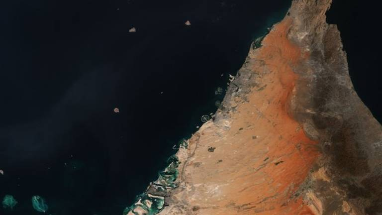 An image that illustrates this article Stunning snap of UAE from space celebrates space conference in Dubai