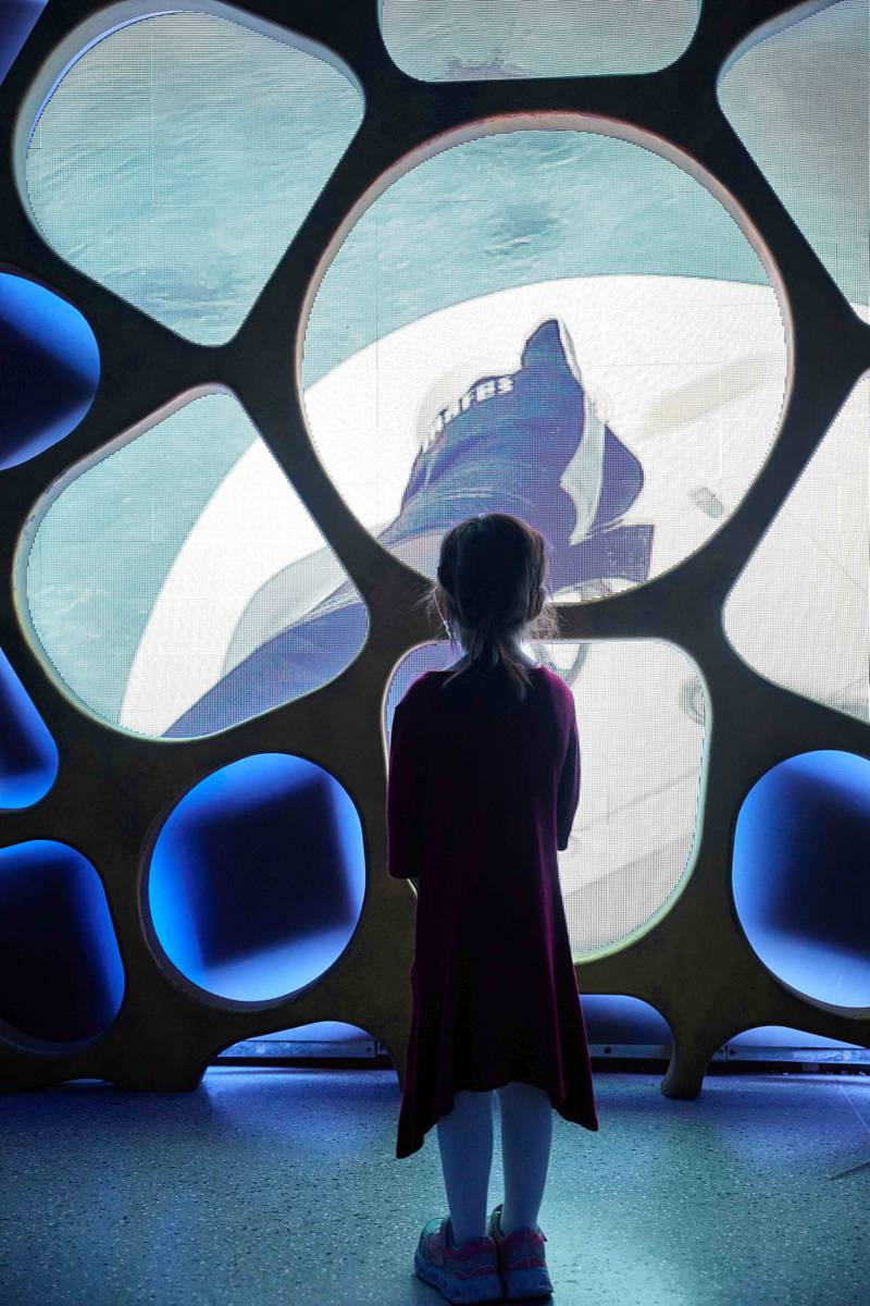 DUBAI, JANUARY 20 2021: General view of visitors experiencing Terra - The Sustainability Pavilion at Expo 2020 Dubai (Photo by Dany Eid/Expo 2020 Dubai)
