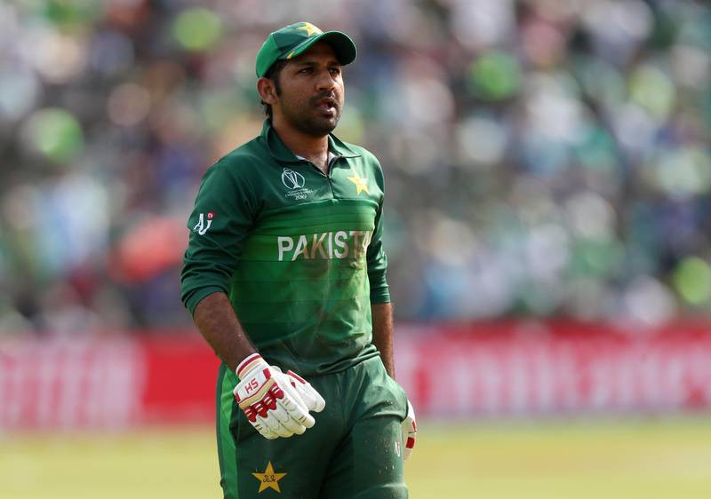 Cricket - ICC Cricket World Cup - Pakistan v Afghanistan - Headingley, Leeds, Britain - June 29, 2019   Pakistan's Sarfaraz Ahmed reacts after losing his wicket   Action Images via Reuters/Lee Smith