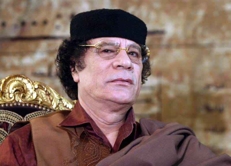 epa02973577 (FILE) A file picture dated 19 February 2005 shows former Libyan leader Muammar Gaddafi during a meeting with then Egyptian President Hosni Mubarak at Itehadeya Presidential palace in Cairo, Egypt. According to media reports on 20 October 2011, Gaddafi was captured close Sirte, Libya.  EPA/KHALED EL-FIQI *** Local Caption ***  02973577.jpg