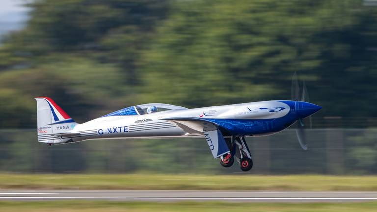 An image that illustrates this article Rolls-Royce's all-electric plane takes to skies for first time