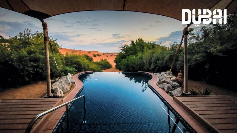 Desertscapes with Al Maha resort. Courtesy Dubai Tourism