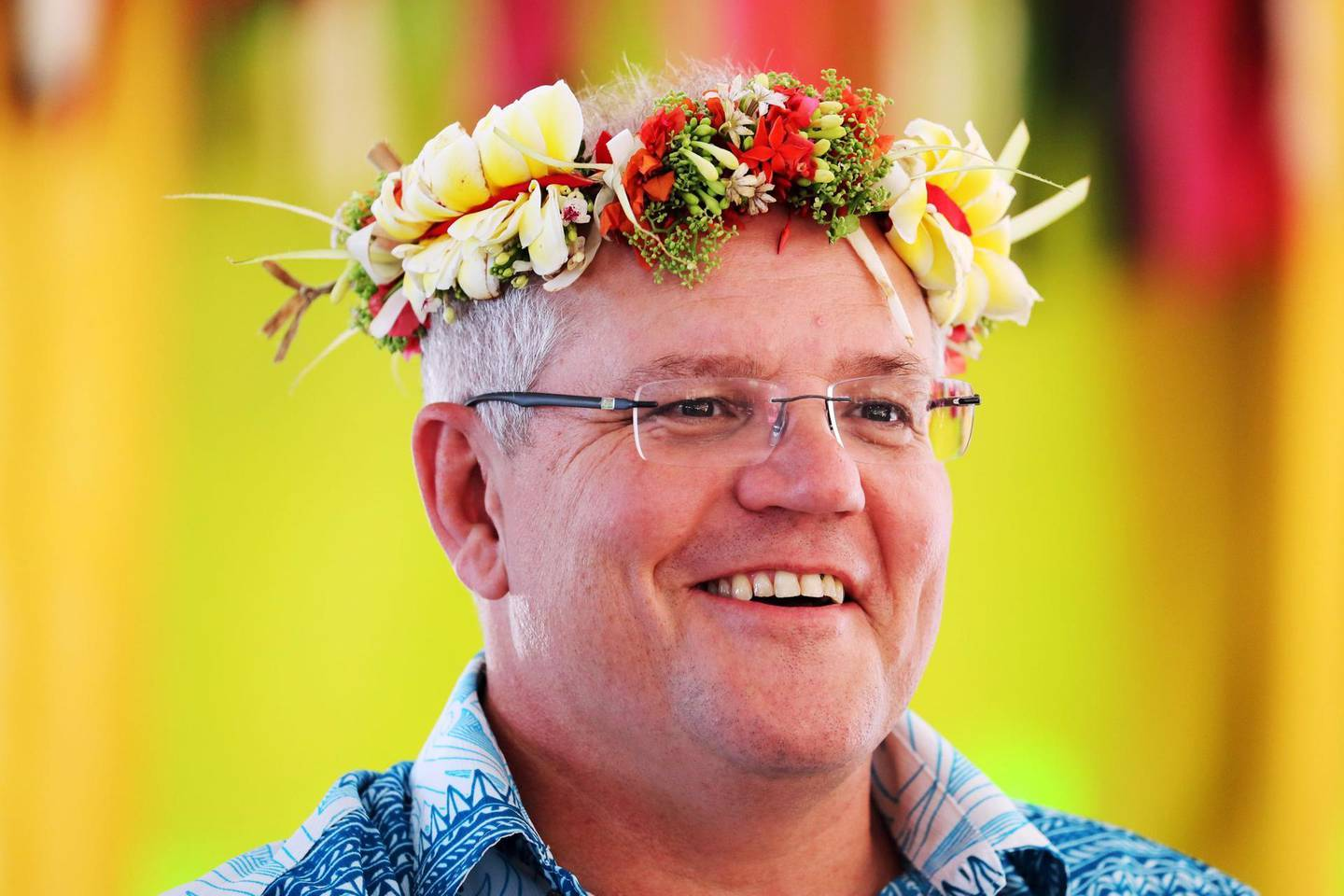 """This handout photo taken on August 14, 2019 and released on August 15 by the Australian Prime Minister's Office shows Australia's Prime Minister Scott Morrison arriving for the Pacific Islands Forum in Tuvalu.  Australia's Scott Morrison arrived at a meeting of Pacific island leaders in Tuvalu with Canberra's regional leadership in question amid intense scrutiny of his government's climate change policies. - XGTY  -----EDITORS NOTE --- RESTRICTED TO EDITORIAL USE - MANDATORY CREDIT """"AFP PHOTO / AUSTRALIAN PRIME MINISTER'S OFFICE """" - NO MARKETING - NO ADVERTISING CAMPAIGNS - DISTRIBUTED AS A SERVICE TO CLIENTS - NO ARCHIVES   / AFP / AUSTRALIAN PRIME MINISTER'S OFFICE / Adam TAYLOR / XGTY  -----EDITORS NOTE --- RESTRICTED TO EDITORIAL USE - MANDATORY CREDIT """"AFP PHOTO / AUSTRALIAN PRIME MINISTER'S OFFICE """" - NO MARKETING - NO ADVERTISING CAMPAIGNS - DISTRIBUTED AS A SERVICE TO CLIENTS - NO ARCHIVES"""