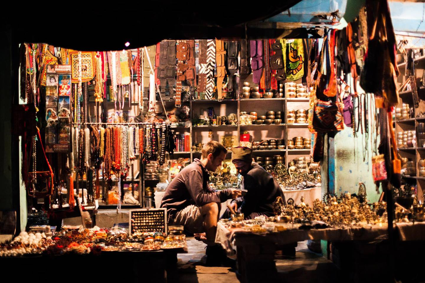 A shop selling all kind of touristy thing in the yoga town of Rishikesh in the Himalayan foothills by Ganga river in India. Famous for its yoga ashrams and being the yoga capital for the world. Getty Images