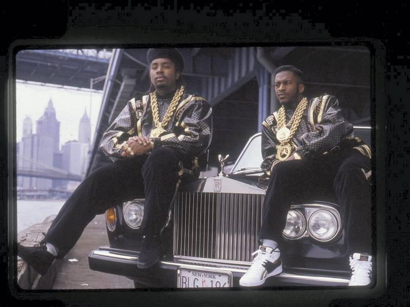 Drew Carolan - Eric B. & Rakim, Follow the Leader - New York, 1988. A Visual History of Hip-Hop exhibition in Manarat Saadiyat. photo: Nermine Kashef
