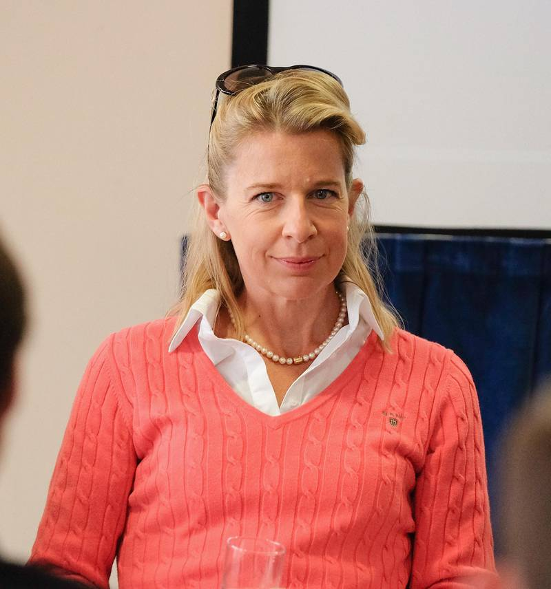 DONCASTER, ENGLAND - SEPTEMBER 25:  Commentator Katie Hopkins during the UK Independence Party annual conference where she spoke to a fringe group about electoral reform on September 25, 2015 in Doncaster, England. After increasing their vote share following the May General Election campaign, the UKIP conference this year focussed primarily on the campaign to leave the European Union ahead of the upcoming referendum on EU membership.  (Photo by Ian Forsyth/Getty Images)
