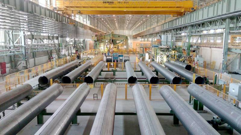 SENAAT, one of the largest industrial investment holding companies in the UAE, today announced that Al Gharbia Pipe Company has reached an operational milestone by commencing commercial production of large diameter, high-quality sour grade steel pipes in Abu Dhabi. Courtesy SENAAT