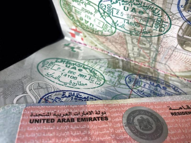 Dubai, United Arab Emirates - Reporter: N/A. Stock. A UAE visa in a passport. Monday, August 31st, 2020. Dubai. Chris Whiteoak / The National