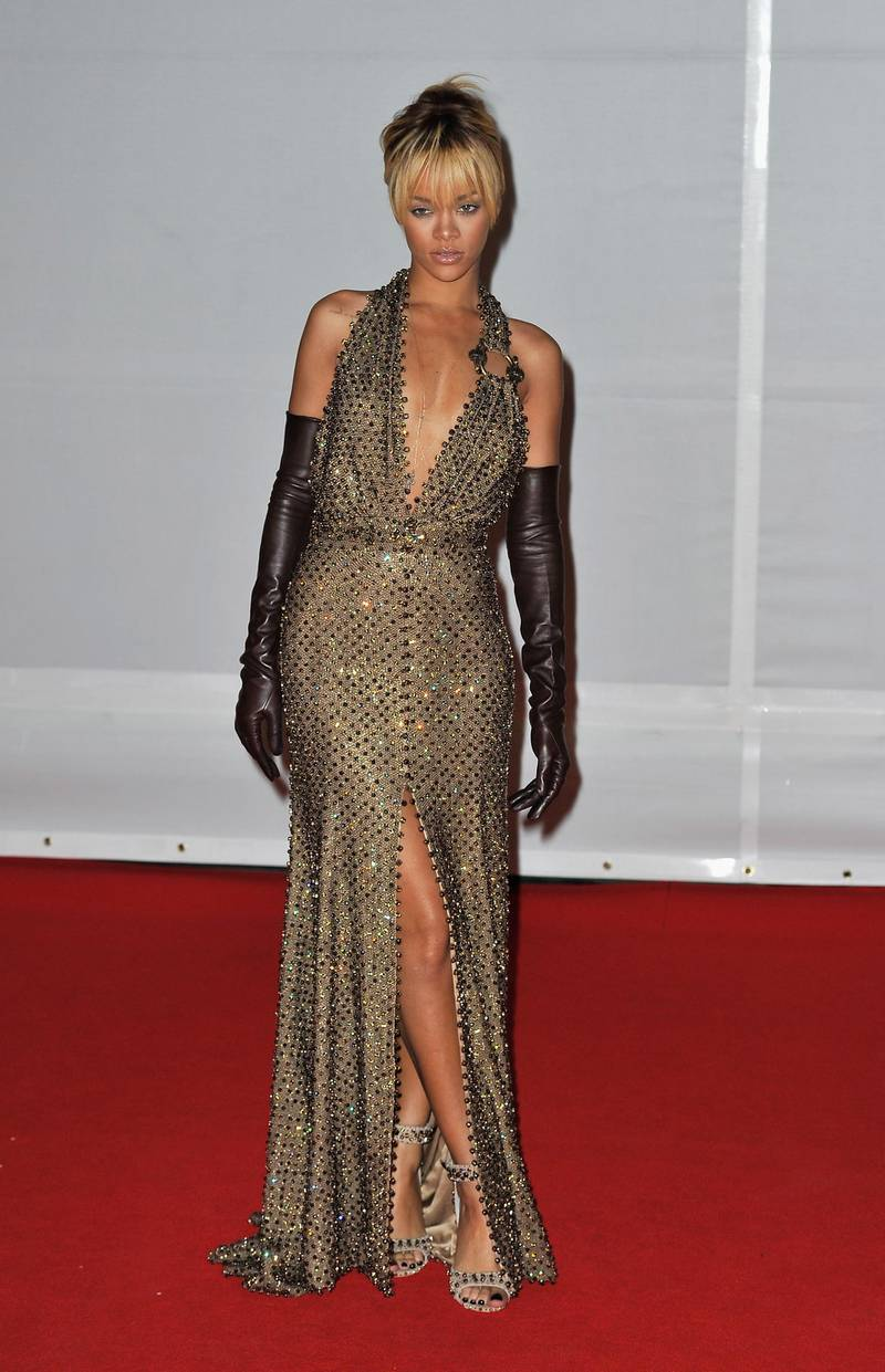 LONDON, ENGLAND - FEBRUARY 21:  Rihanna attends The BRIT Awards 2012 at the O2 Arena on February 21, 2012 in London, England.  (Photo by Gareth Cattermole/Getty Images)