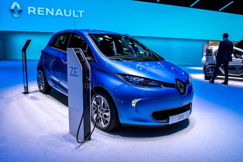 GENEVA, SWITZERLAND - MARCH 06: Renault ZOE is displayed during the second press day at the 89th Geneva International Motor Show on March 6, 2019 in Geneva, Switzerland. (Photo by Robert Hradil/Getty Images)