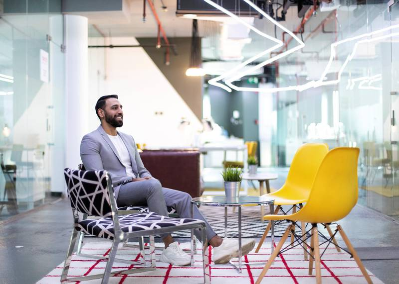 DUBAI, UNITED ARAB EMIRATES. 21 OCTOBER 2019. Shahzad Bhatti,  Founder,  The Co-Working Popup.(Photo: Reem Mohammed/The National)Reporter: Keith Fernandez Section: BZ