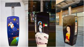 Emirati artists transform Dubai parking meters into artworks