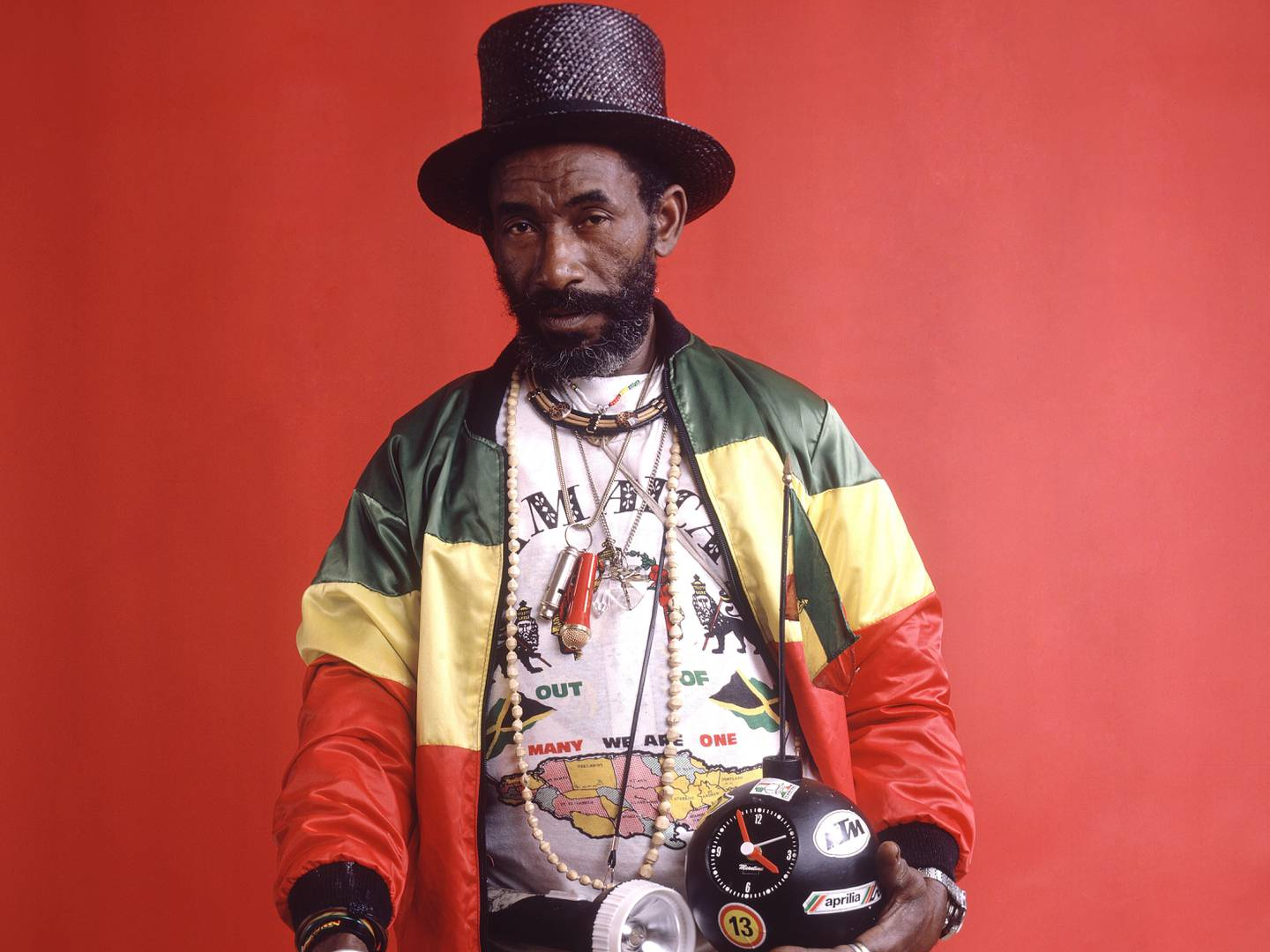 Mandatory Credit: Photo by Bleddyn Butcher / Rex Features ( 206078cg ) Lee Scratch Perry Various - 1985